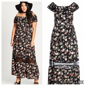 City chic Maxi Dress Sz M(18W)